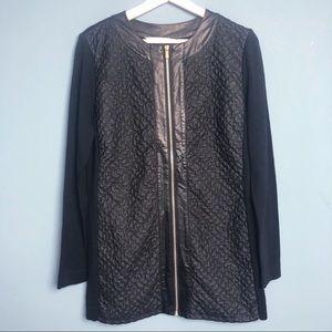 Peter Nygard Zip Front Cardigan Sweater Size.M